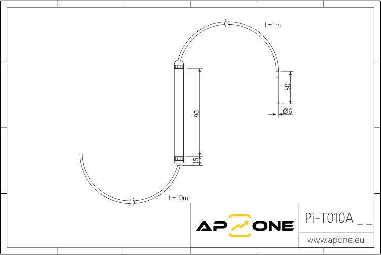 Rysunek techniczny do Pi-T010Axx
